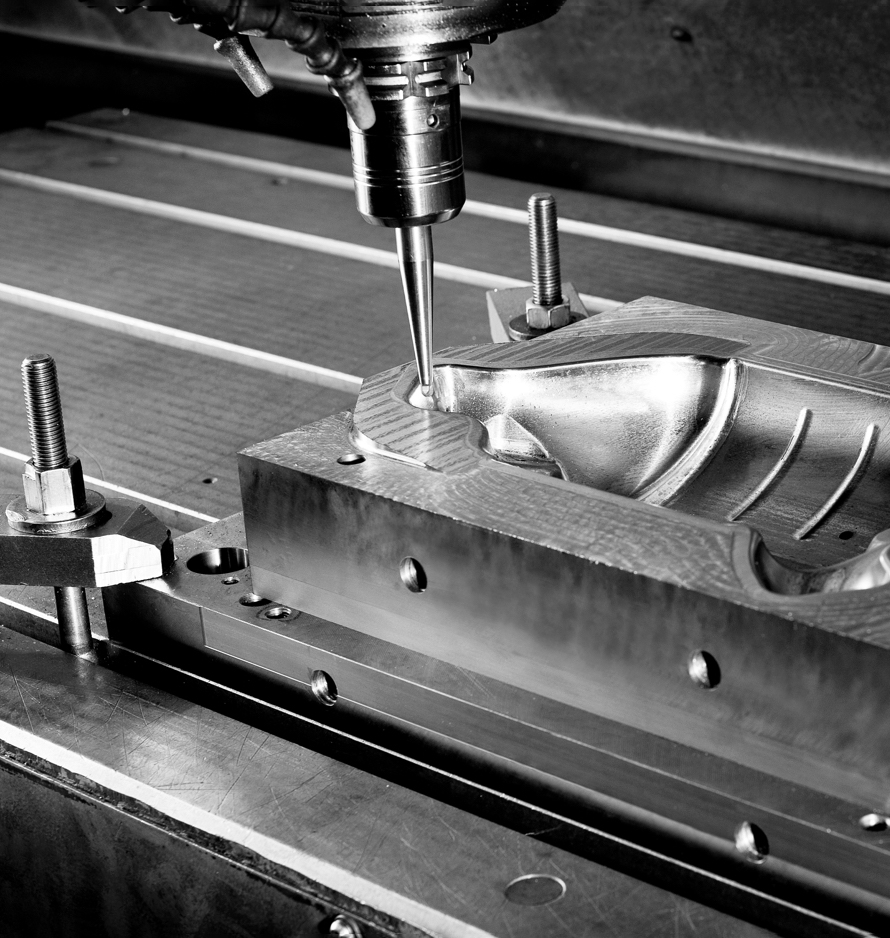 Hot work tools being machined